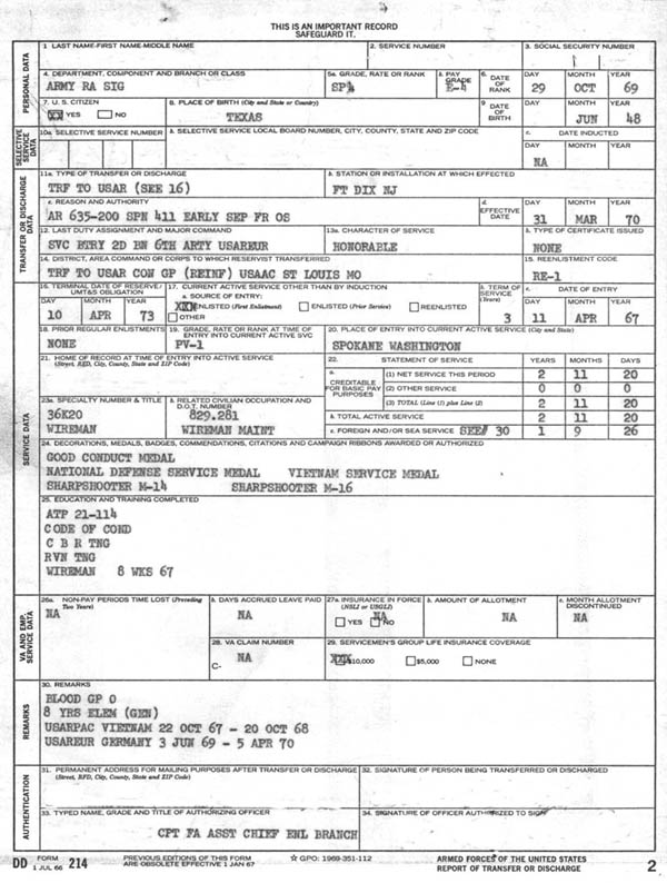 Printables Dd Form 214 Worksheet welcome veterans to the dd214 website and their families website